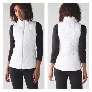 Lululemon Down For a Run Vest, White Size 4